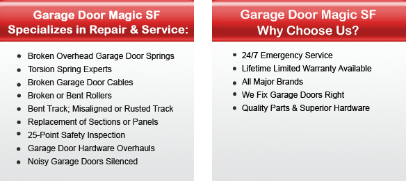 Garage Door Repair San Rafael Offers